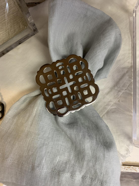 Napkin Ring Medallion Set of 4