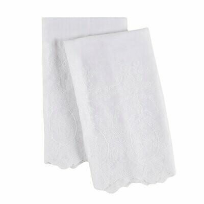 Pompom Pillowcase Set White Grace King