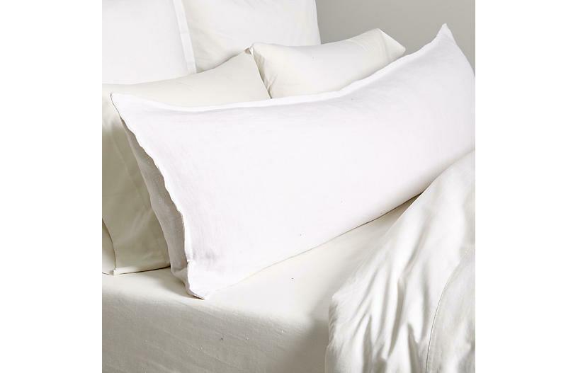 PomPom Montauk Body Pillow White