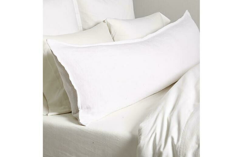 PomPom Montauk Body Pillow White