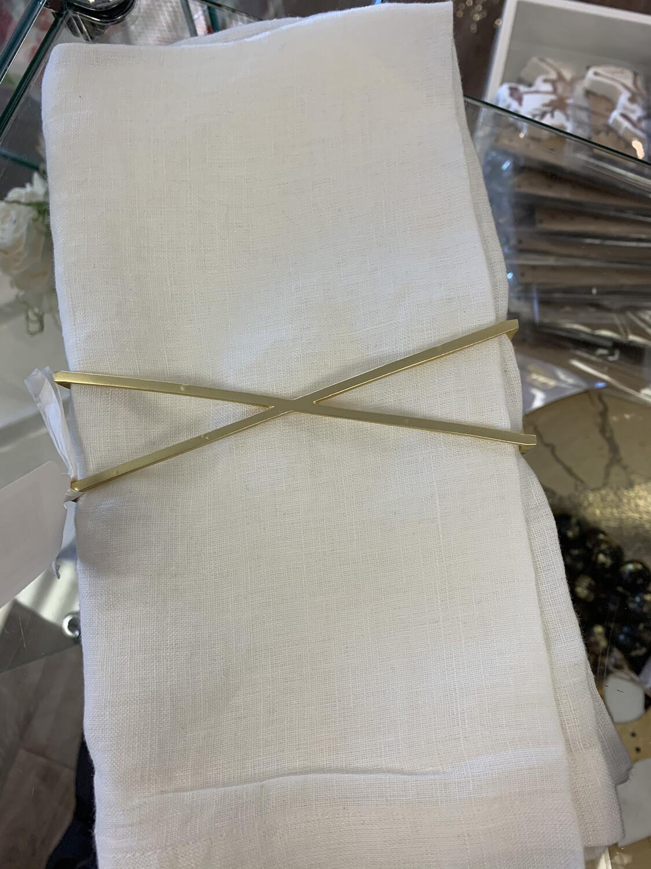 Napkin Wraps Set of 4  X Design