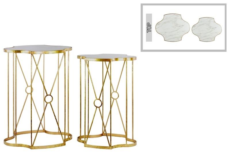 UT Marble/Wood Table Large