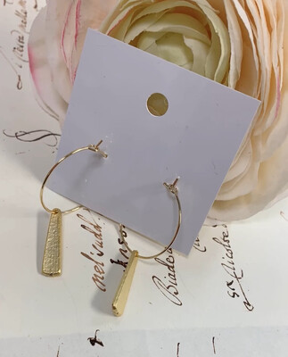 Love AO Earrings Dangle Hoop