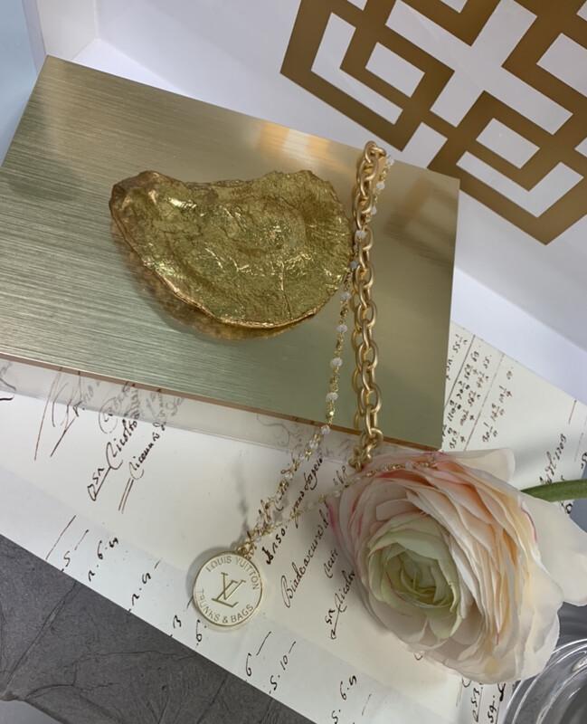 Designer Necklace White LV Trunks & Bags