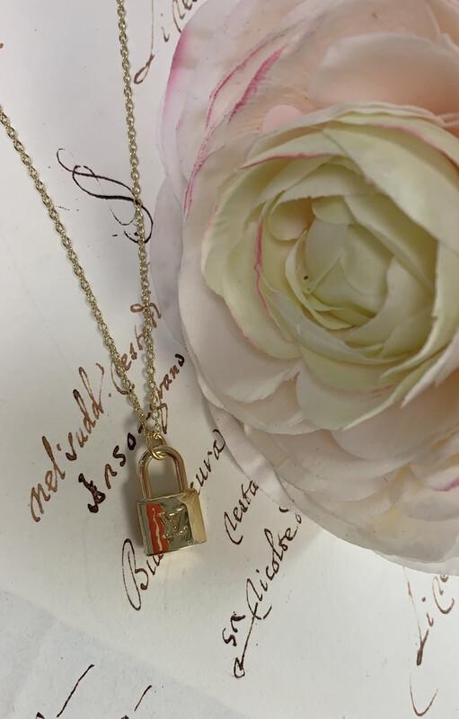 Designer Necklace Petite LV Locket