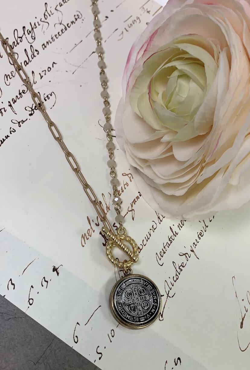 Love AO Necklace Beaded Coin