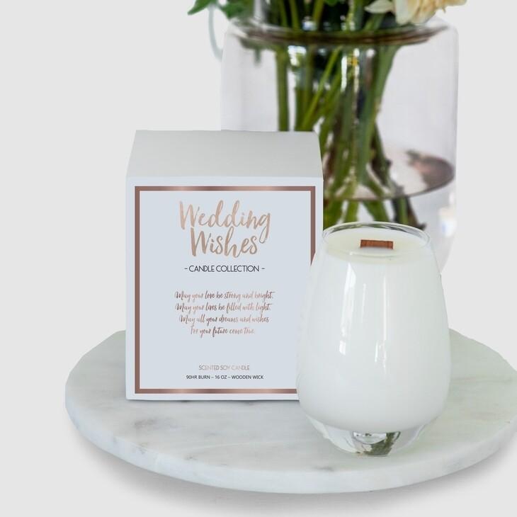 Gratitude Candle Wedding Wishes