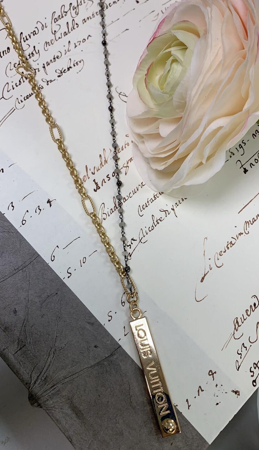 Designer Necklace Long LV Beaded