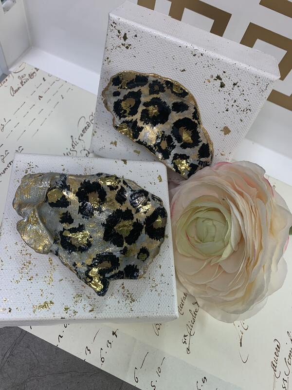 4x4 Oyster Art Leopard
