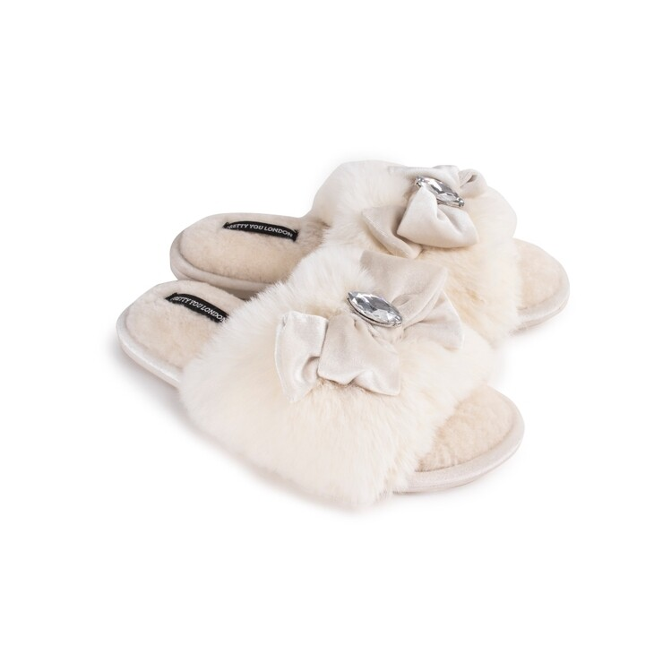PYL Darcey Slipper Cream LARGE