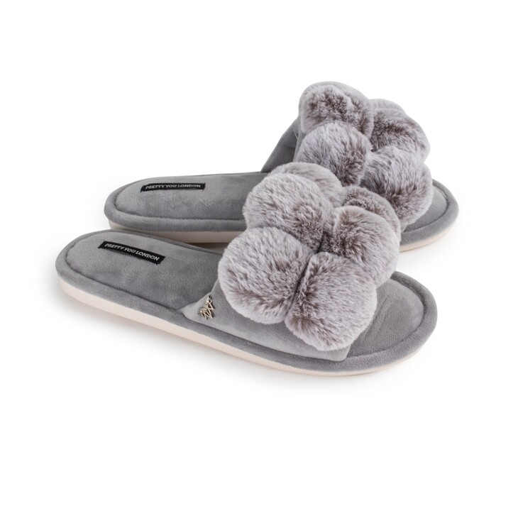 PYL Dolly Slipper Grey LARGE