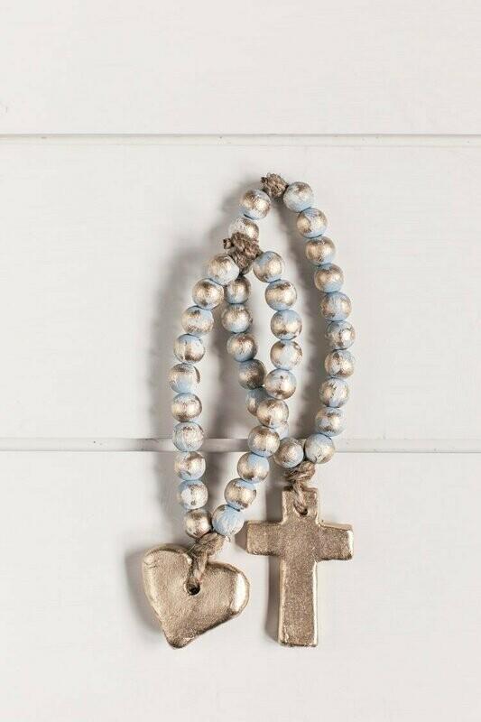 SS Blessing Bead Bitty Blue Cross