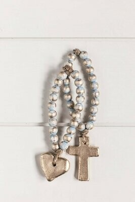 """SS Blessing Bead Bitty 7.5"""" Blue"""