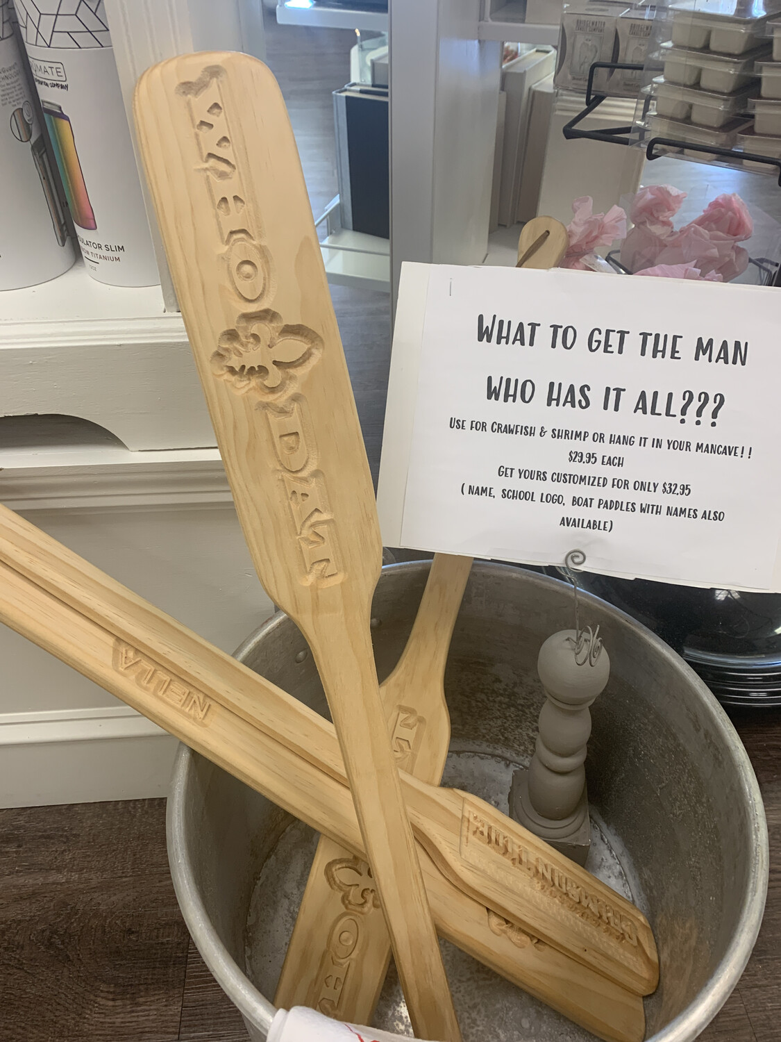 Wooden Novelty Paddle Who Dat