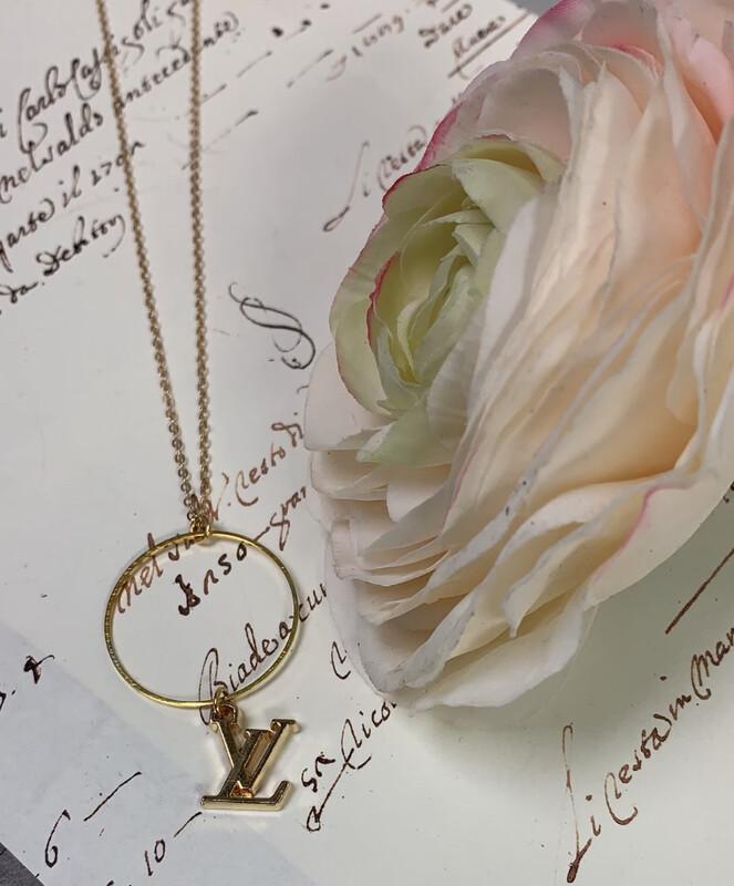 Designer Necklace LV Petite Logo