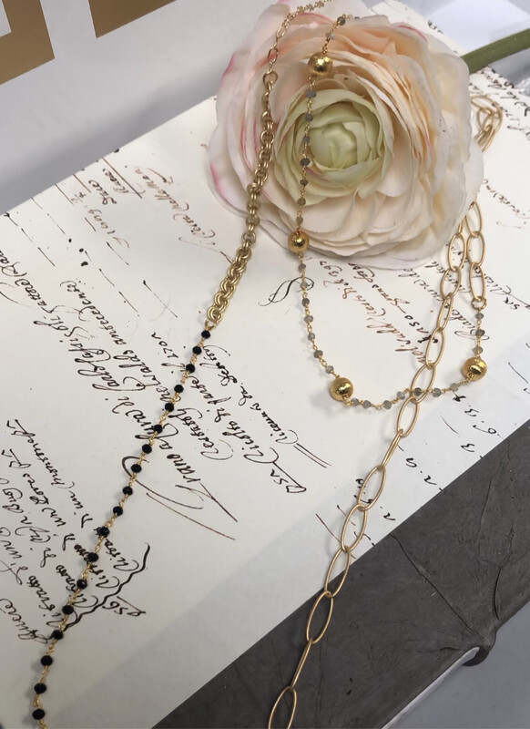 Love AO Necklace Black Link Chain