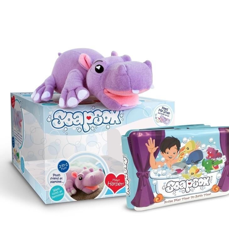 SoapSox Harper The Hippo