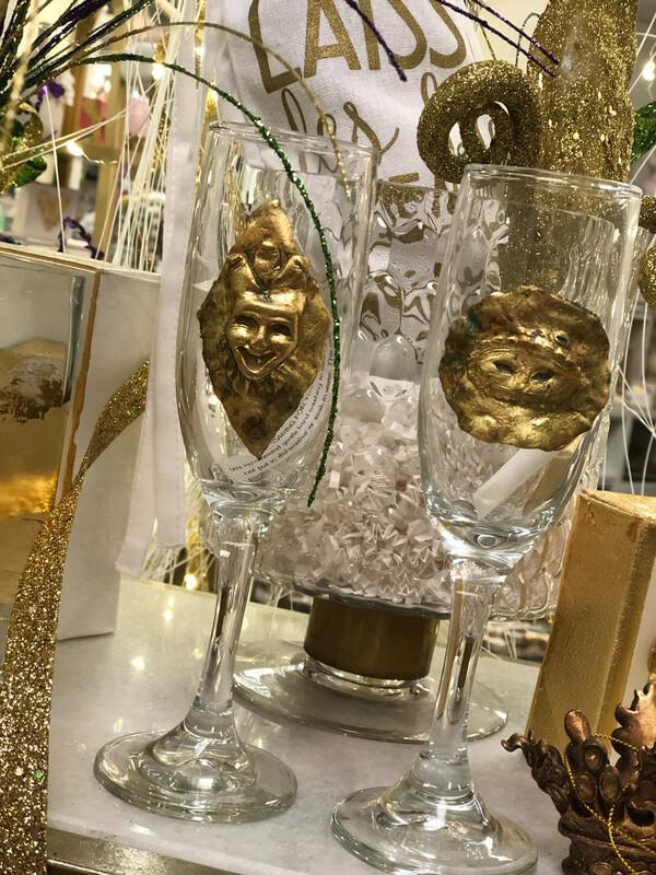Stamped Diamond Jester Champ Glass