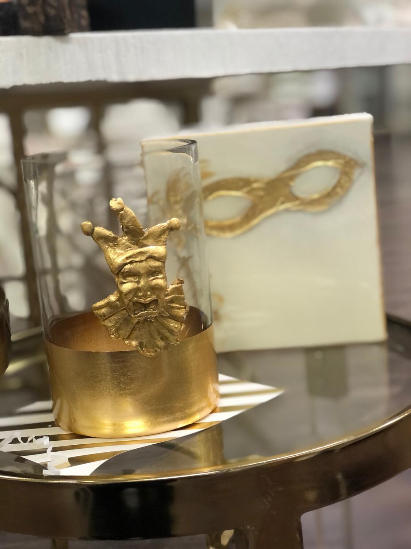 Gold Stripe Jester Vase Medium
