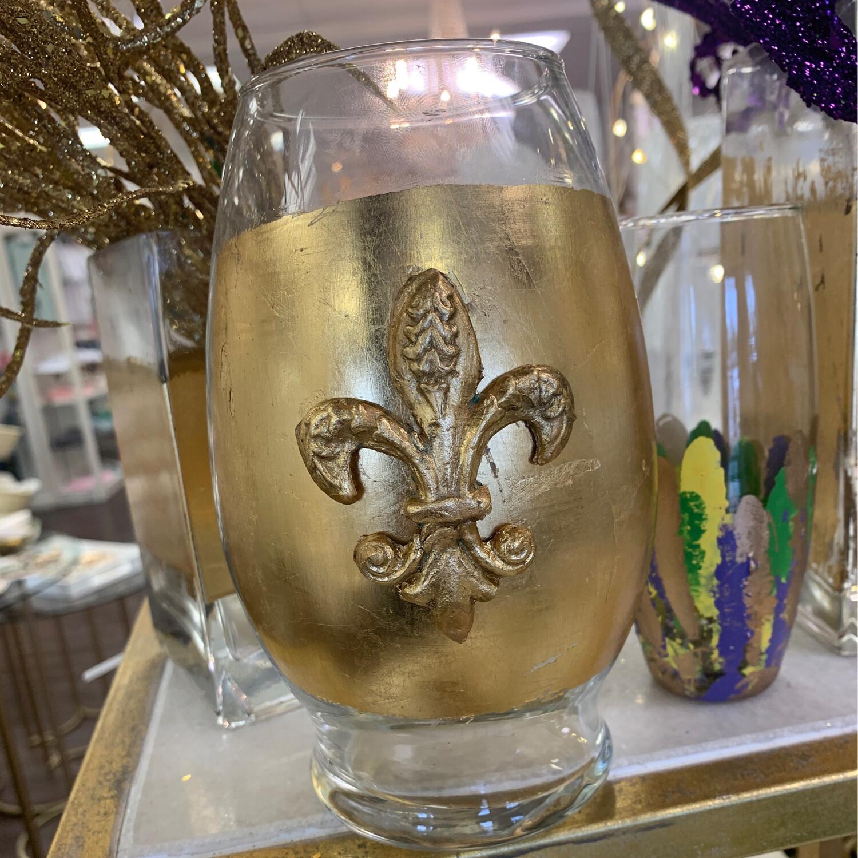 Gilded Fleur De Lis Vase 2
