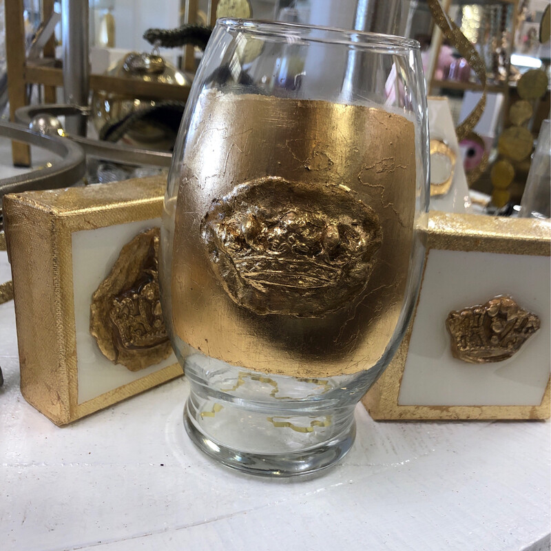 Stamped Crown Vase