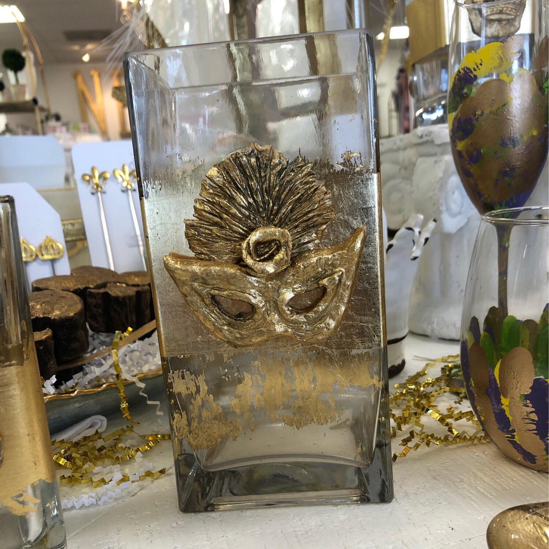 Stamped Mask Vase Large