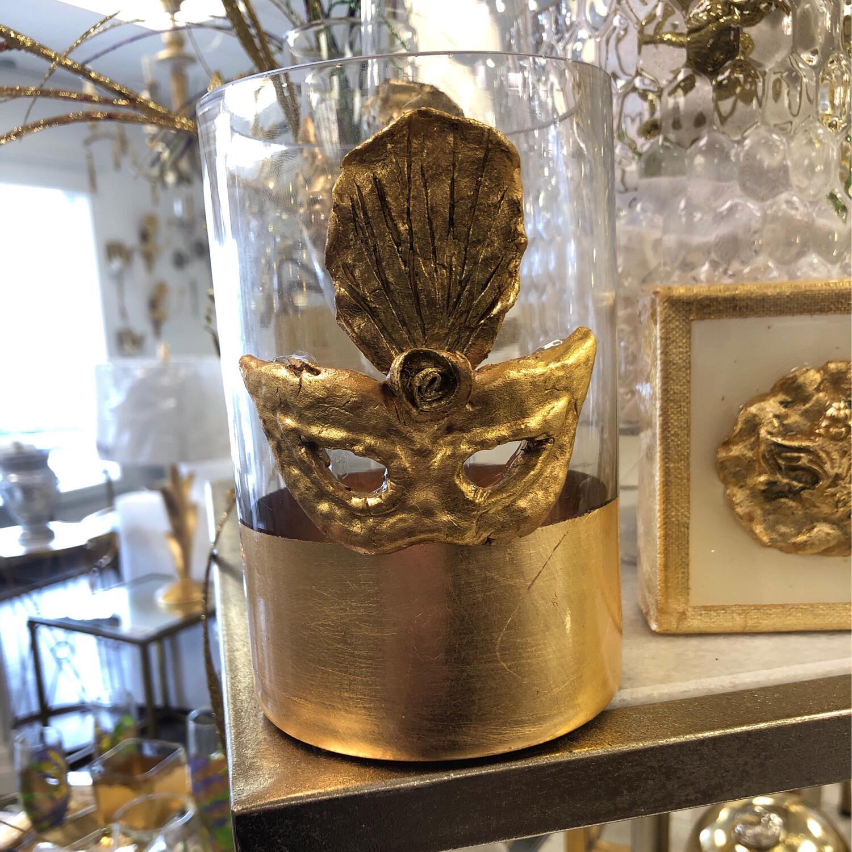Gold Stripe Mask Vase Medium