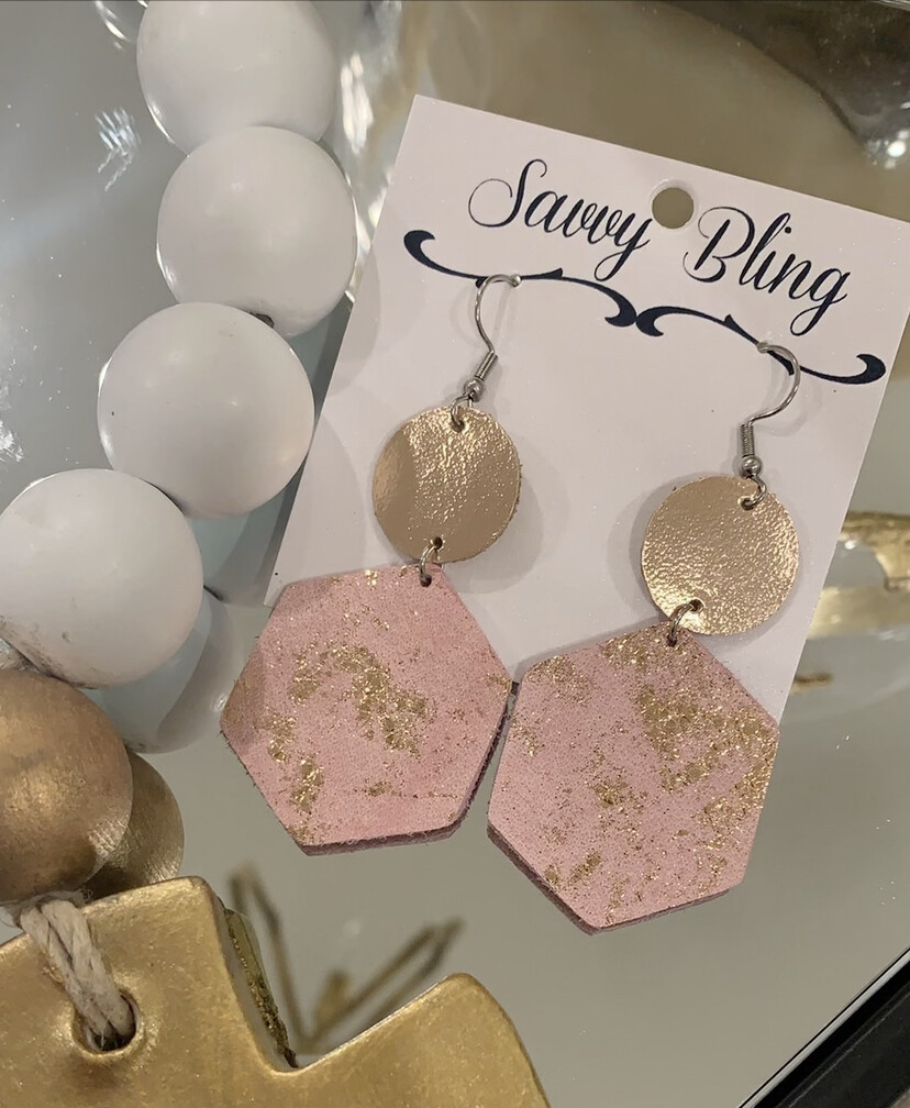 Savvy Earrings Blush/Gold