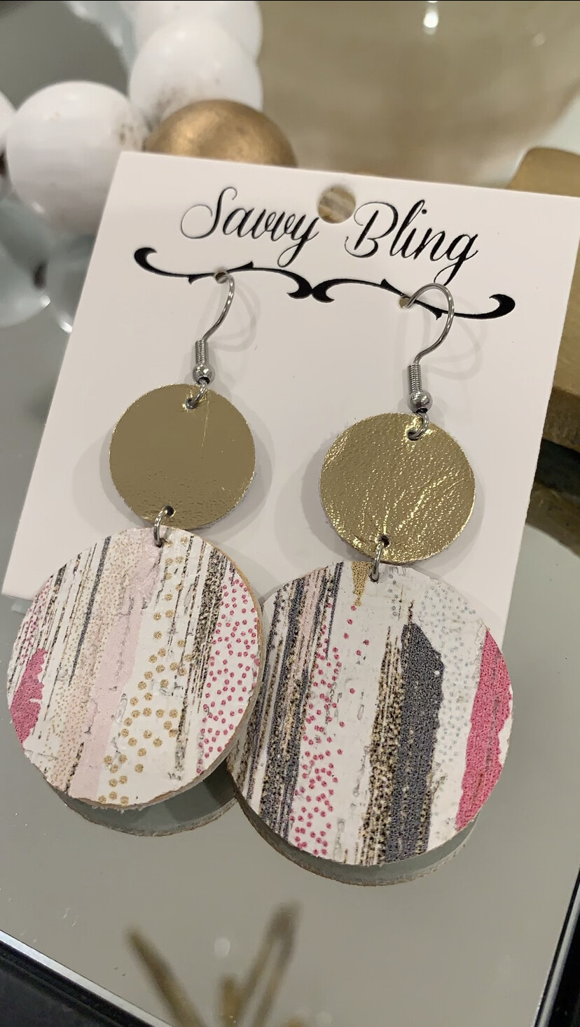 Savvy Earrings Multi Color Circle