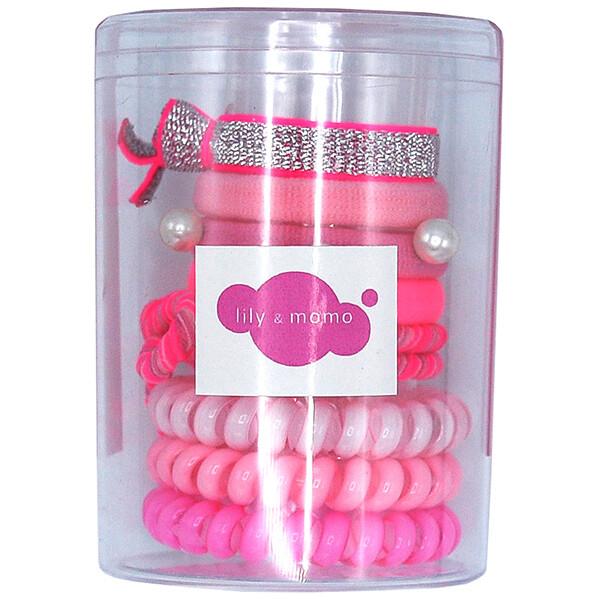 LM Hair Ties Color Pop Set Pink