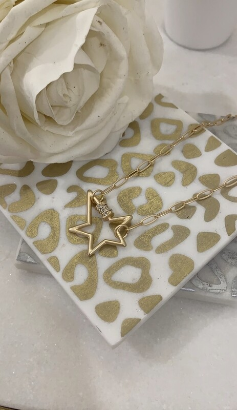 JM Necklace Rhinestone Star