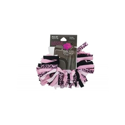 Pomchies Luggage ID 2-Pack Pink Leopard