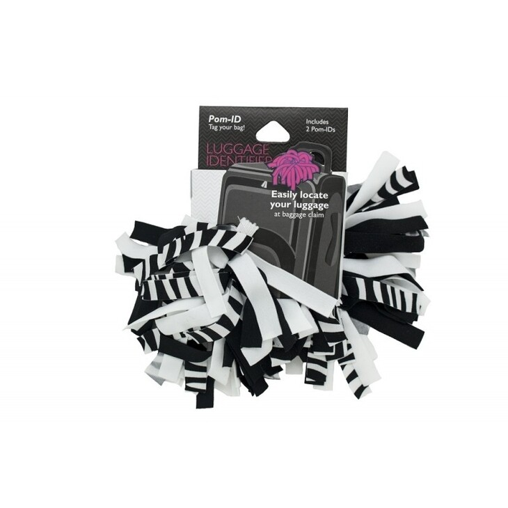 Pomchies Luggage ID 2-Pack Zebra