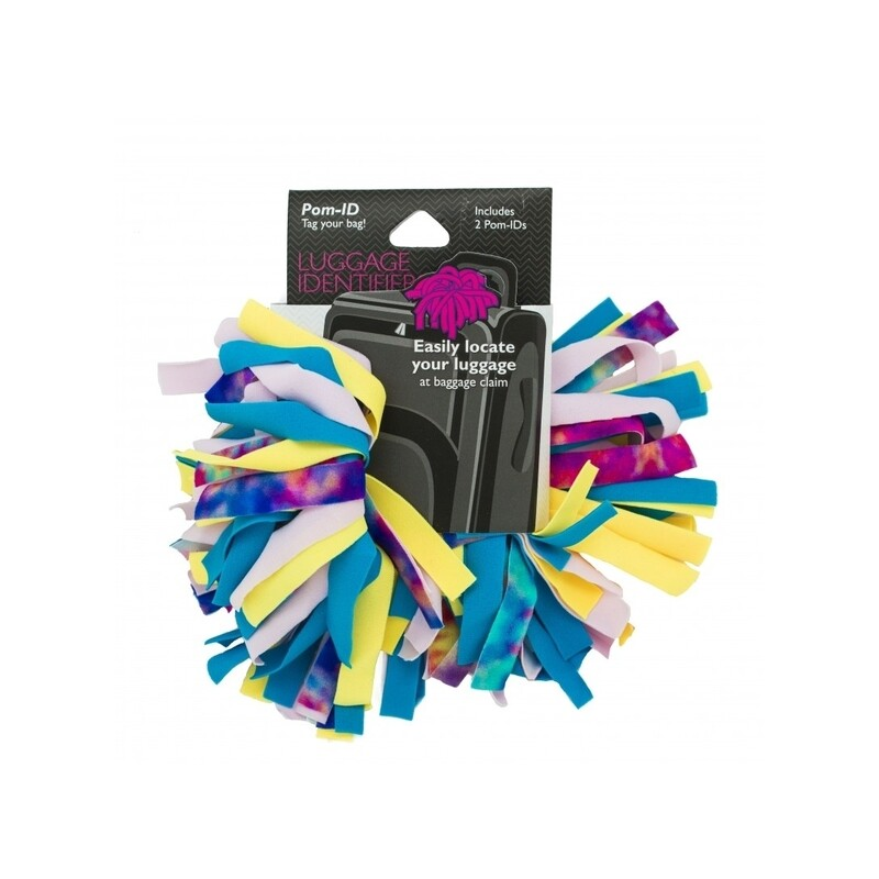 Pomchies Luggage ID 2-Pack Tye Dye