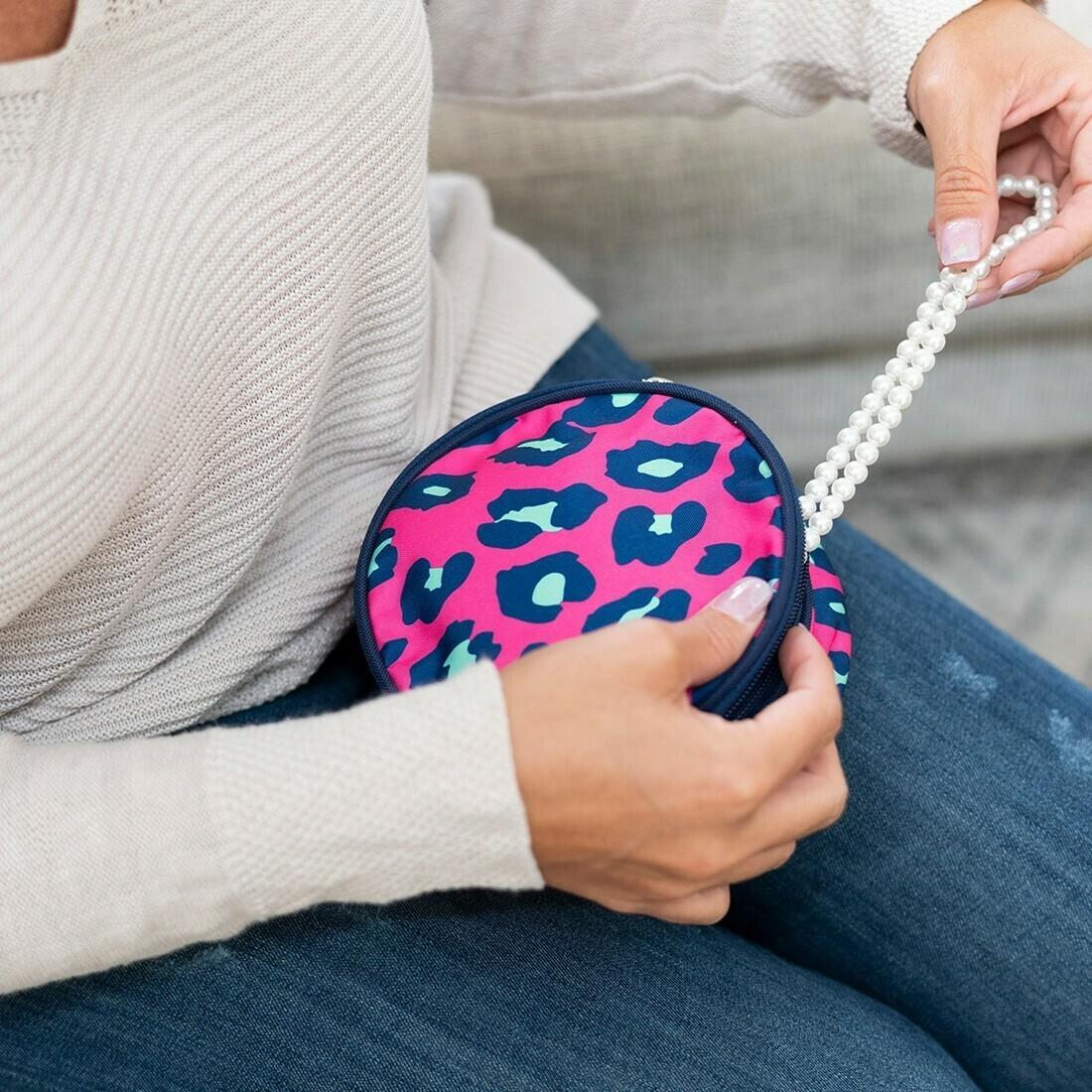 VL Jewelry Bag Pink Leopard