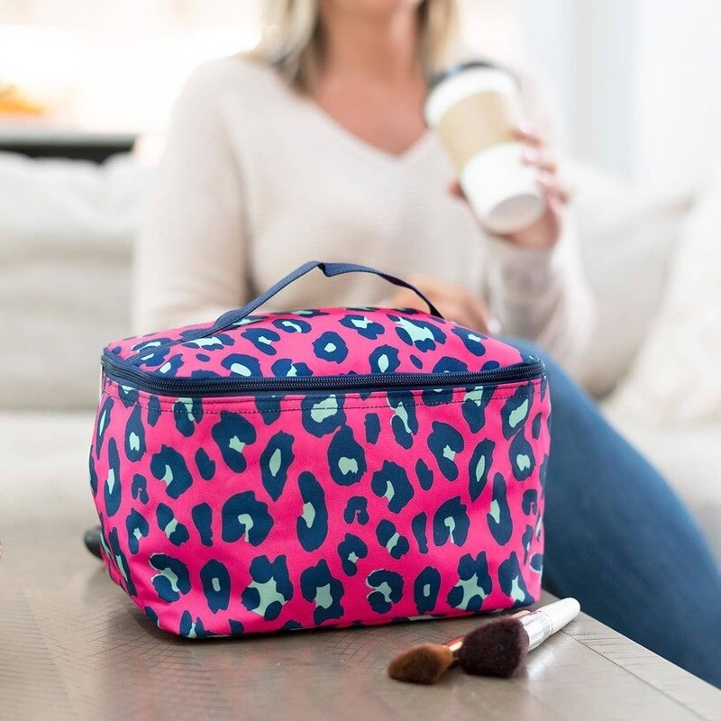 VL Cosmetic Bag Pink Leopard