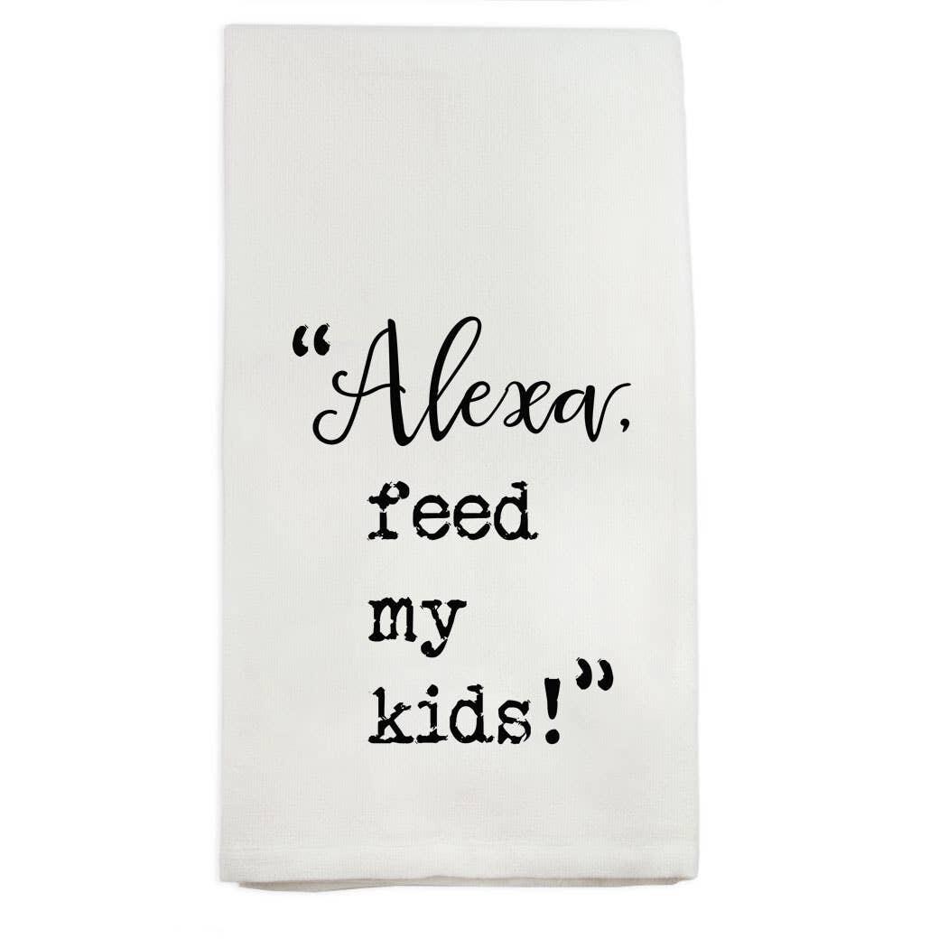 FG Cotton Towel Alexa Feed My Kids