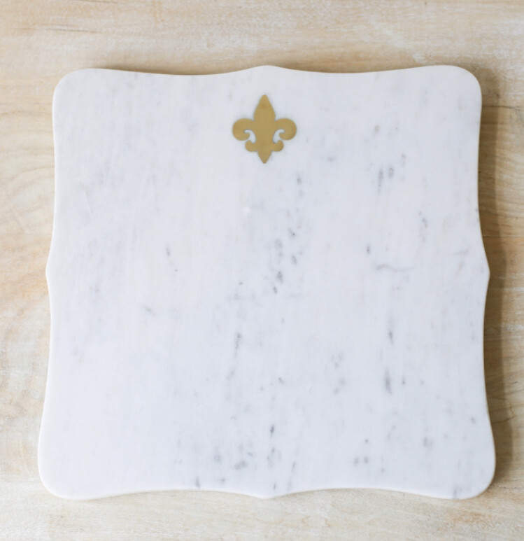 TRS Fleur De Lis Marble Serving Board