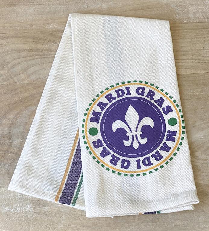 TRS Medallion Mardi Gras Towels