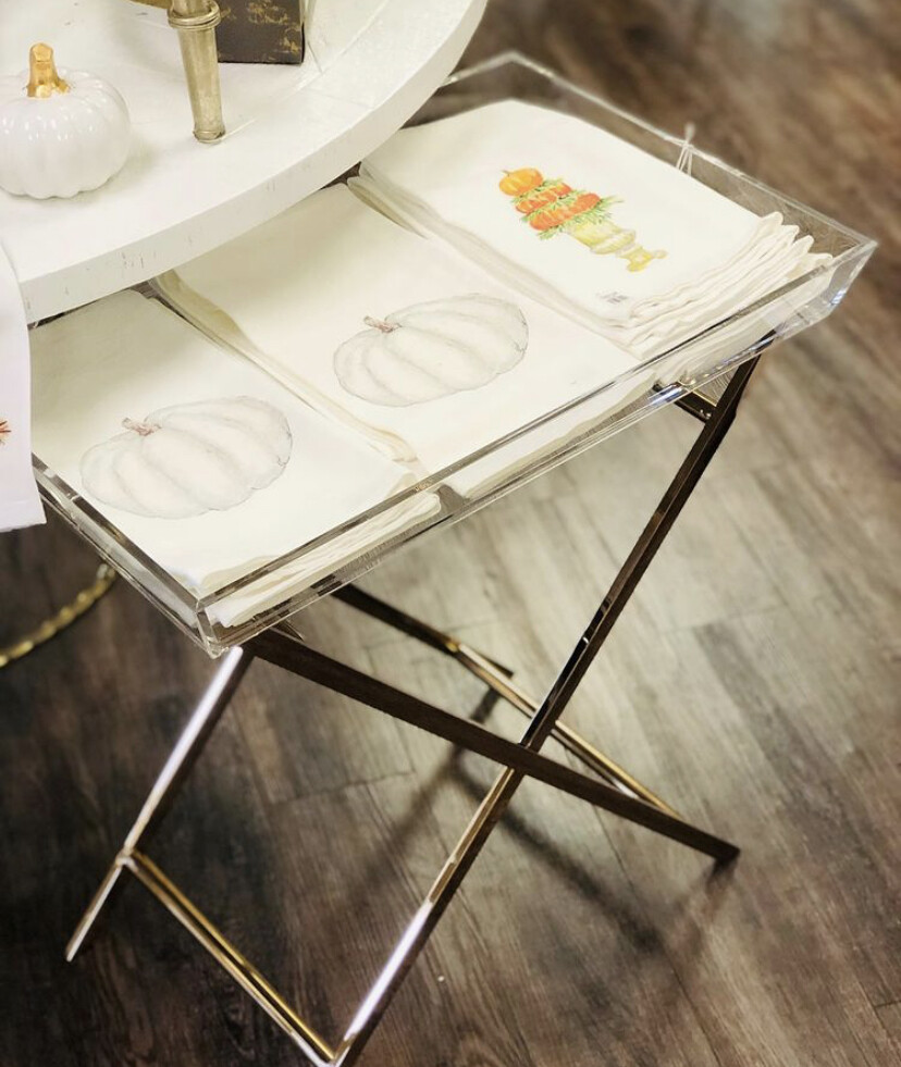 IM Clinton Acrylic Tray Table