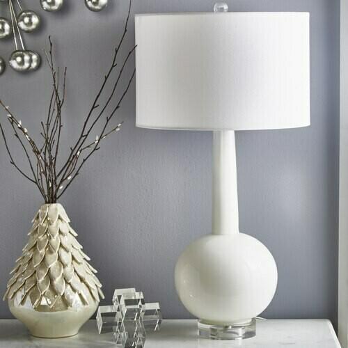 SB Skinny Glass Top Lamp