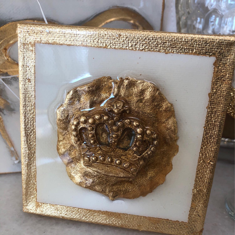 4x4 Stamped Crown Painting