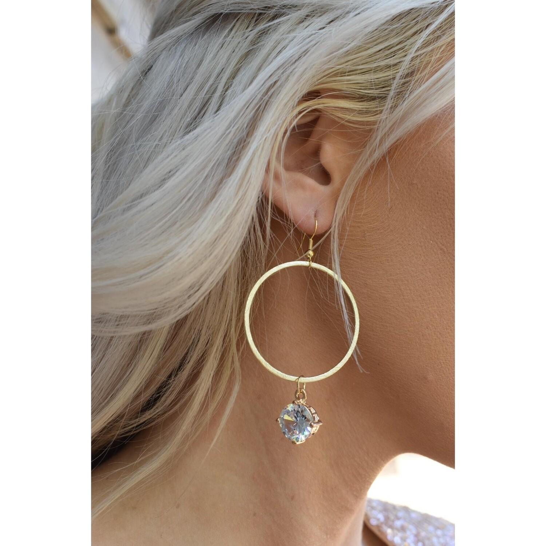 SJ Earrings Gold Hoops