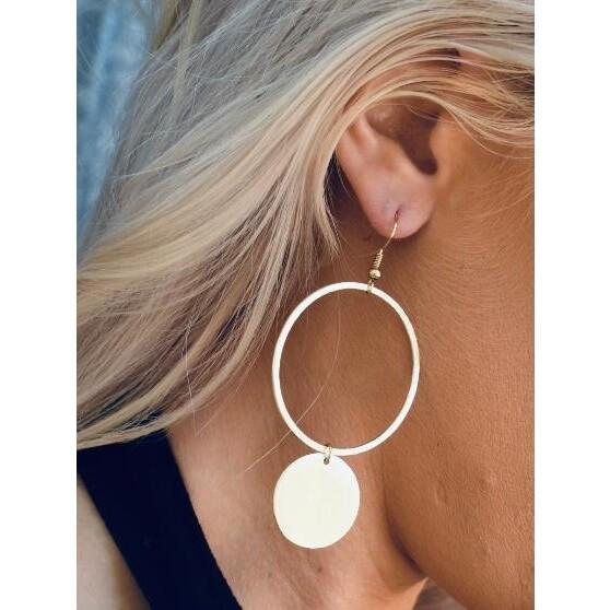 SJ Earrings Disk Hoops