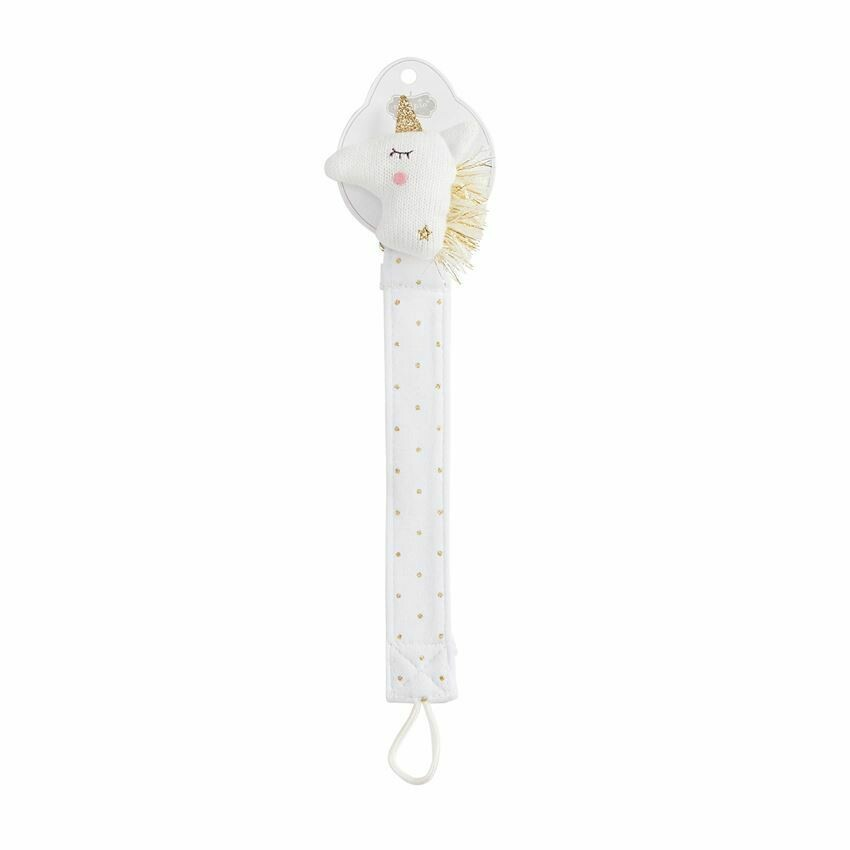MP Pacifier Clip Knit Unicorn