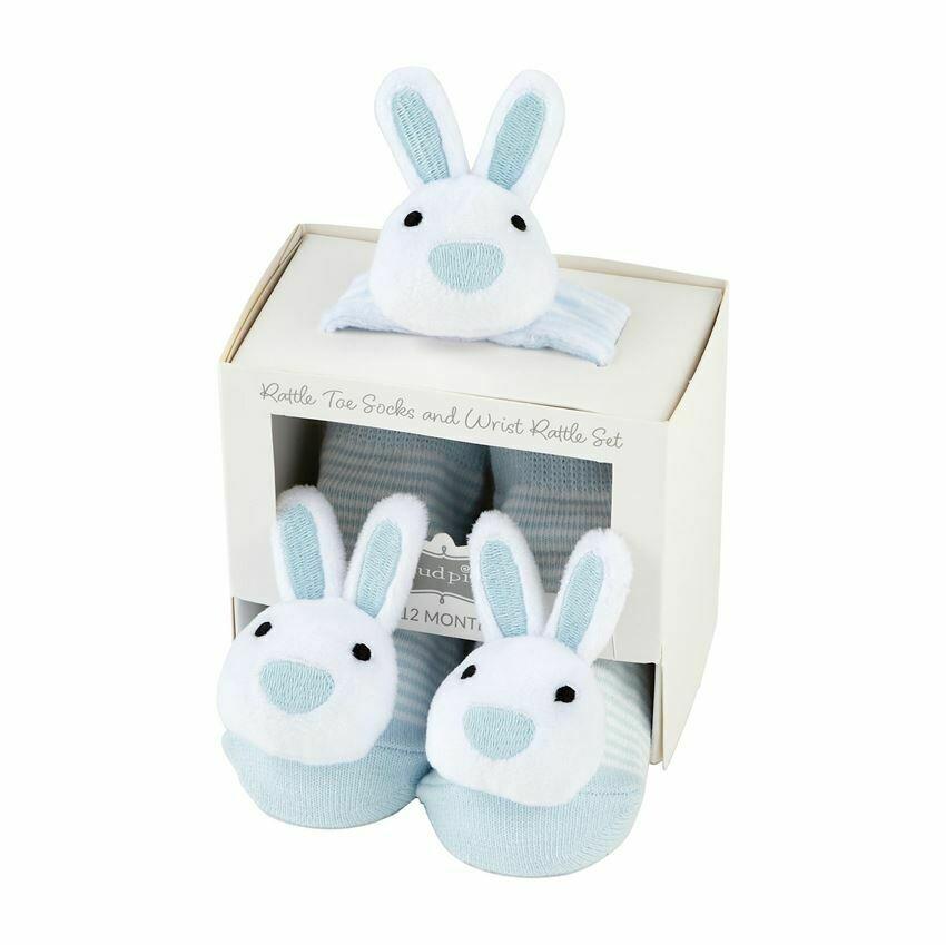 MP Rattle & Sock Bunny Set Blue