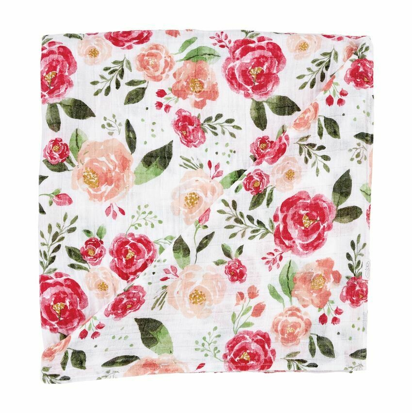 MP Muslin Swaddle Blanket Floral
