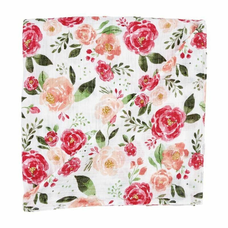 MP Muslin Swaddle Blanket Floral