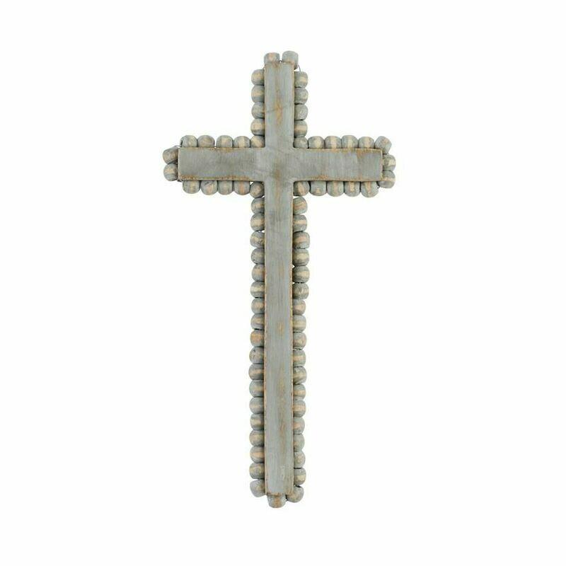 MP Beaded Wood Cross Medium