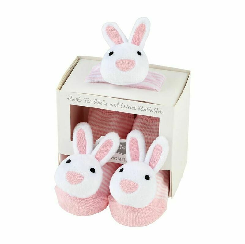 MP Rattle & Sock Bunny Set Pink